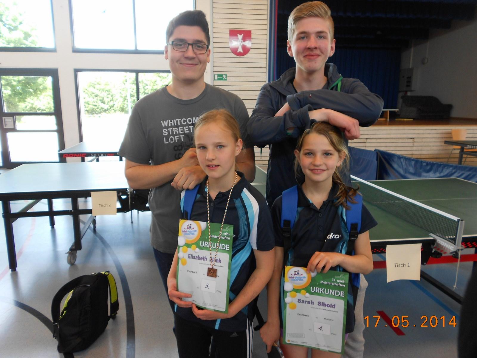 Foto von Adrian, Joshua, Sarah und Elisabeth